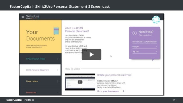 FasterCapital - Portfolio FasterCapital - Skills2Use Building Your SkillsBank to boost confidence V2 Screencast 75