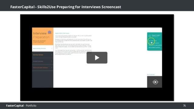 FasterCapital - Portfolio FasterCapital - Skills2Use Build your SkillsBank CV Screencast 77