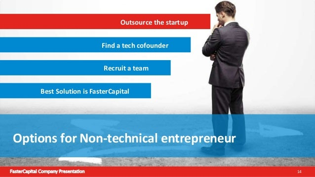FasterCapital Company Presentation 15 Outsource the startup Lean methodology can't be applied. As this needs multiple iter...