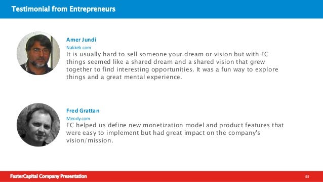 FasterCapital Company Presentation 34 Success Stories - EduNoor  We finished our first version in Aug/2012, but that didn...