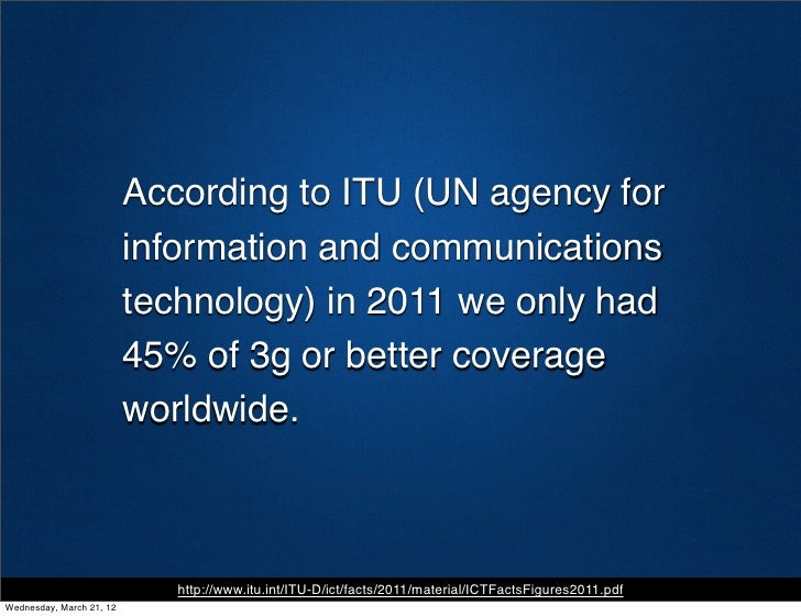 According to ITU (UN agency for                          information and communications                          technolog...