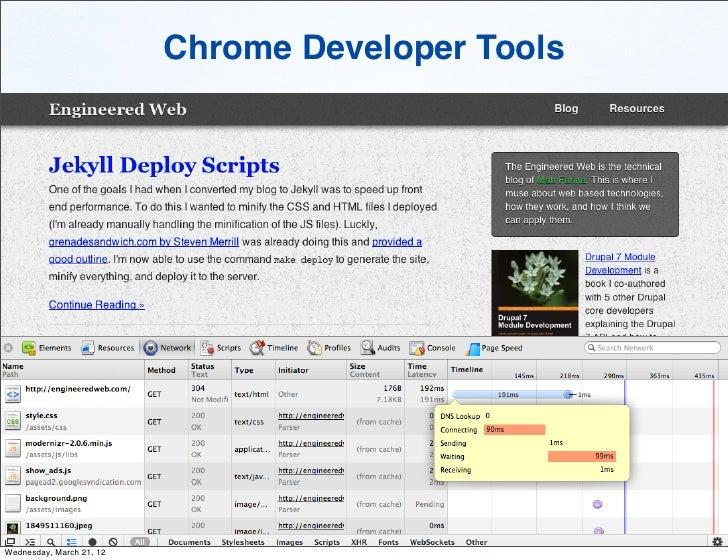 Chrome Developer ToolsWednesday, March 21, 12