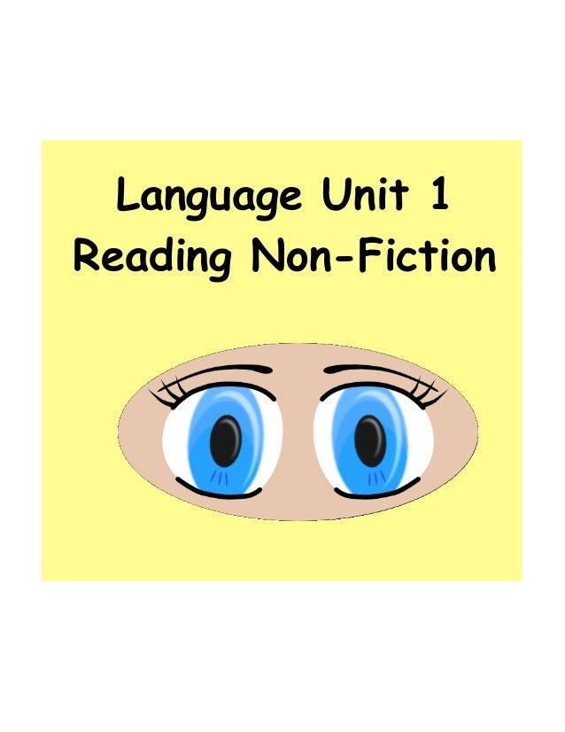 Language Unit 1Reading Non-Fiction