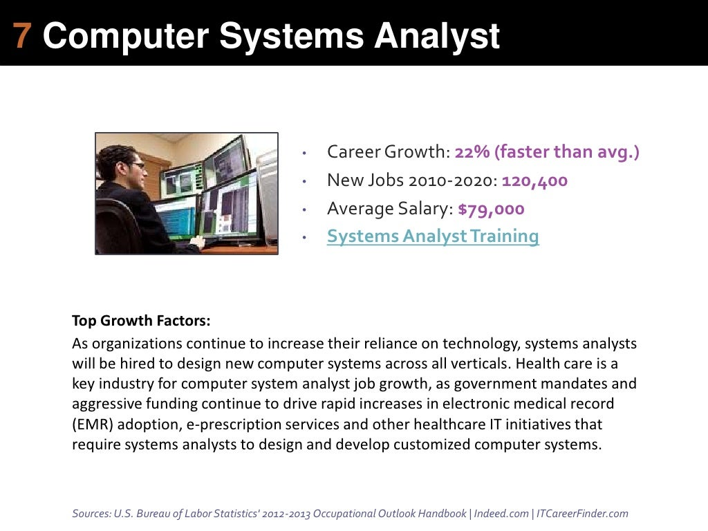 7 computer systems analyst