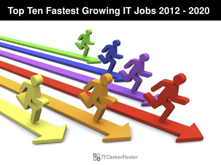 Best Careers 2020.Top Ten Fastest Growing It Jobs 2012 2020 Highest Paying