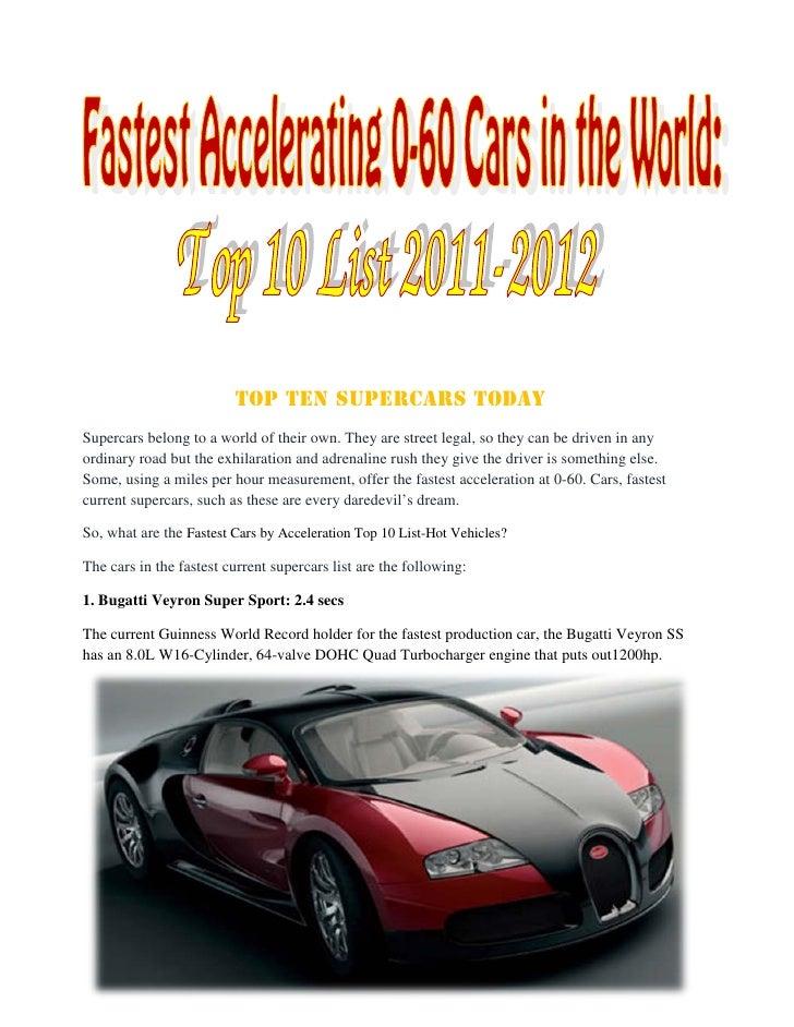fastest cars 2011 2012. Black Bedroom Furniture Sets. Home Design Ideas
