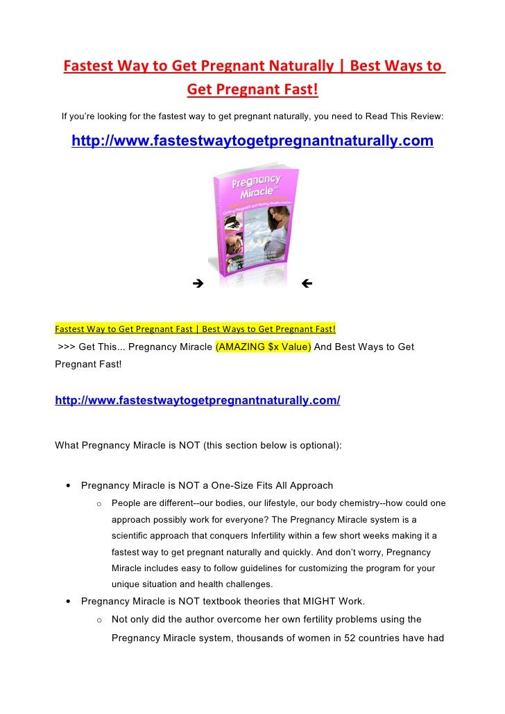 Fastest Way to Get Pregnant Naturally | Best Ways to                   Get Pregnant Fast!  If you're looking for the faste...