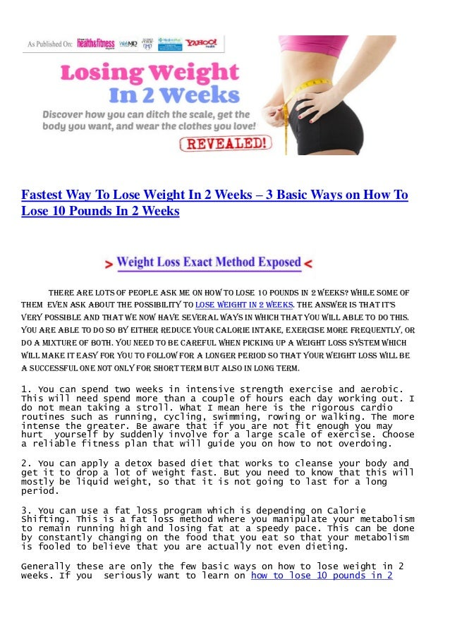 lose 10 pounds of body fat in 2 weeks