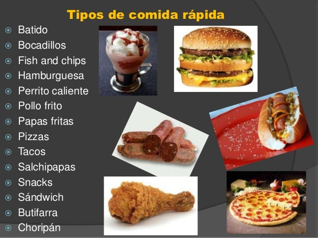 Fast food for Una comida rapida