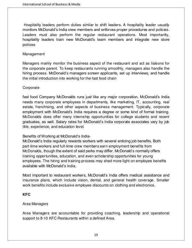 fast food industry analysis rh slideshare net Write Operations Manual Customer Service Operations Manual Sample
