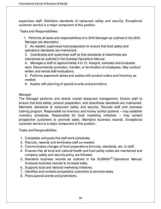 fast food industry analysis rh slideshare net Sample Franchise Operations Manual Restaurant Operations Manual Sample