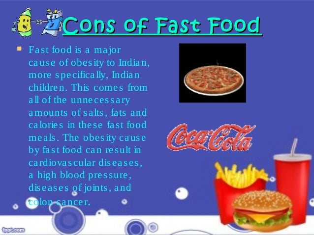 power point presentation on traditional and fast food