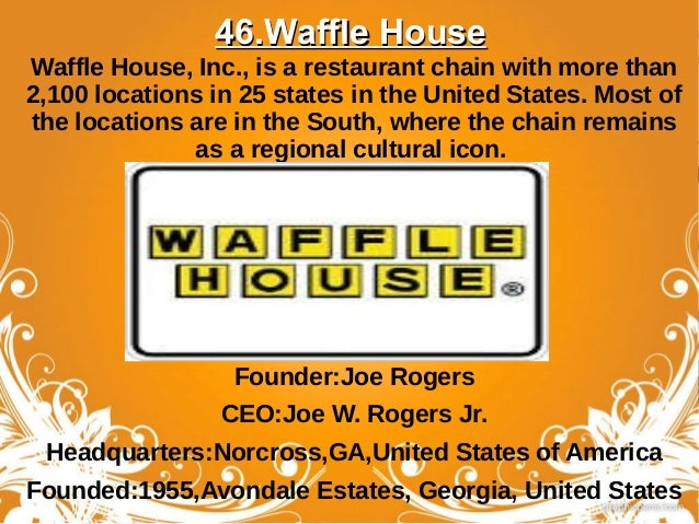 waffle house pop culture icon