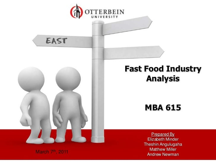 Fast Food Industry                       Analysis                      MBA 615                         Prepared By        ...