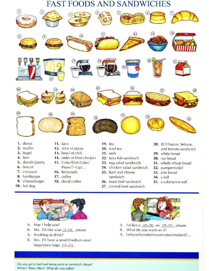Fast food and sandwiches