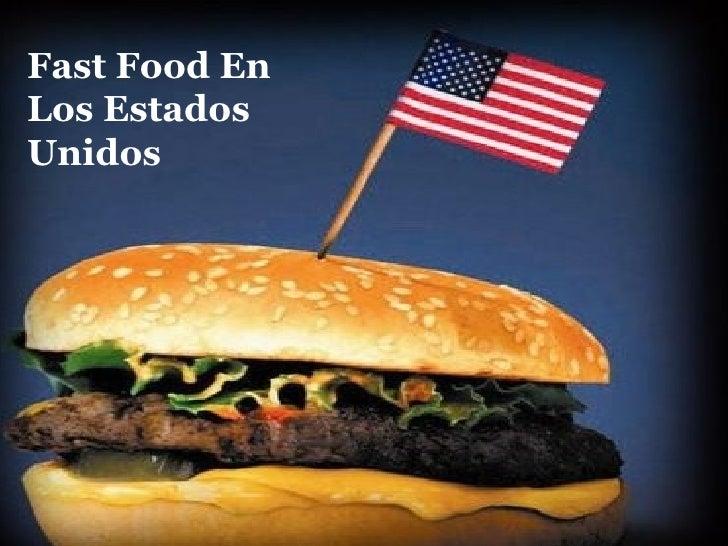 Fast Food En Los Estados Unidos