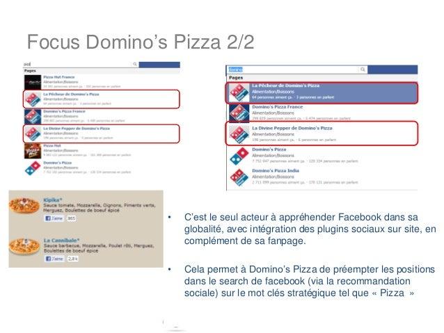 Focus Domino's Pizza 2/2              •   C'est le seul acteur à appréhender Facebook dans sa                  globalité, ...