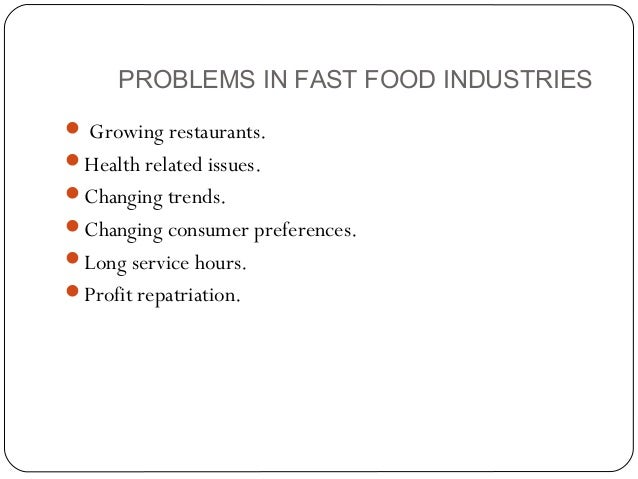 Problems With Fast Food Regulations