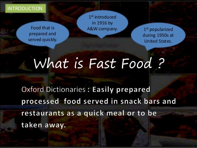 how the fast food affects our Abstract: fast food affects our life in many aspects in fact, there are many  reasons that have been shown why people continuing eating fast food while they .