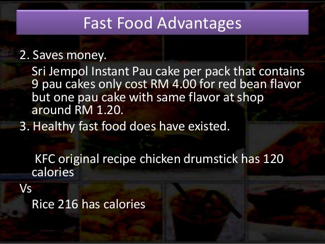 advantages and disadvantages of kfc Kfc vs macdonald world 1 executive summary the international market is flooded with various sectors and industries that involve products ofdaily aswell as occasional use for the consumers.