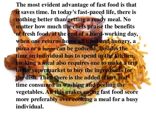 """fast food industry advantages and disadvantages What are the advantages and disadvantages of owning a franchise advantages """"owning a franchise allows you to go."""