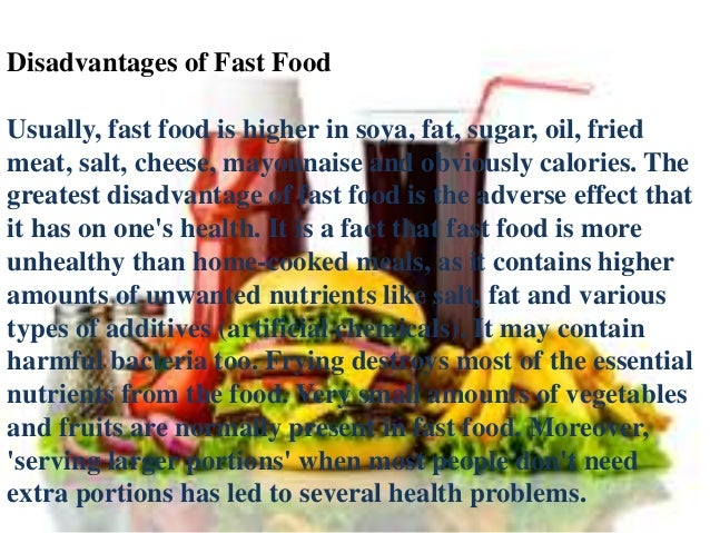 fast food 17 essay Fast food is the name coined for such food items which are either pre-cooked or can be cooked in lesser time than regular food people find it convenient to eat such food items which please the taste buds more than regular food.