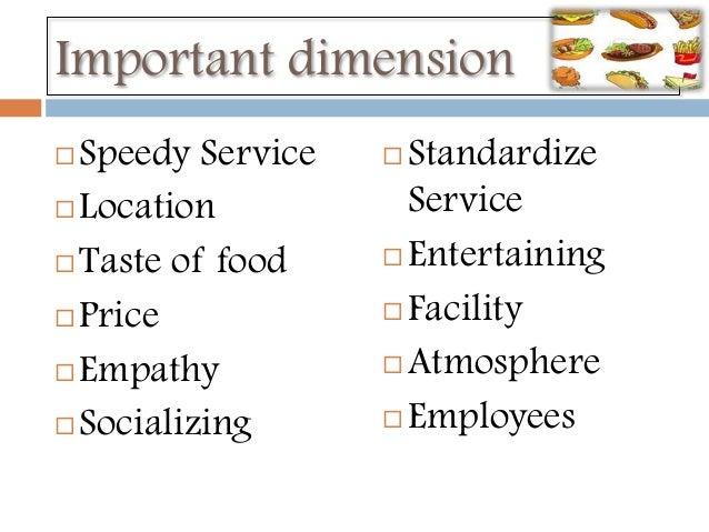 customer satisfaction in fast food industry pdf