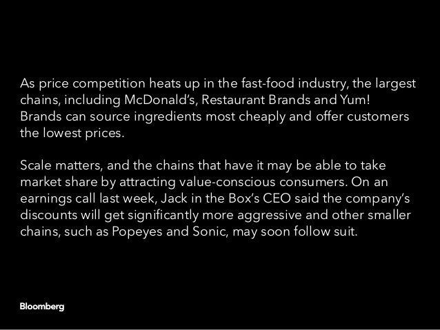 In fast food wars, scale matters Slide 3