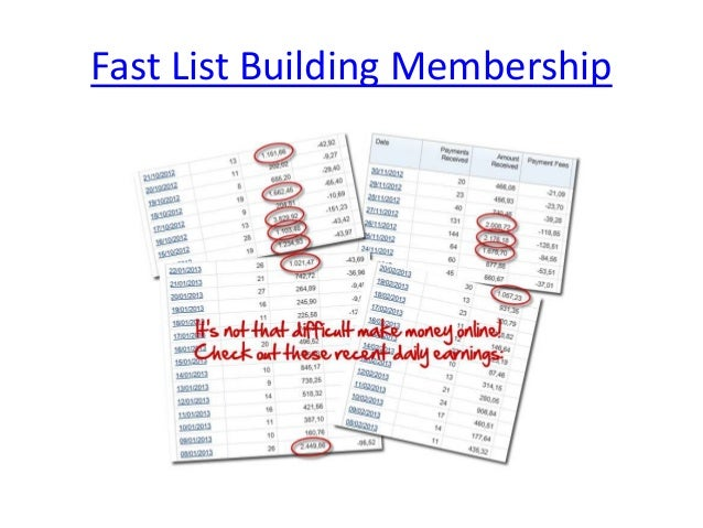 Fast List Building Membership