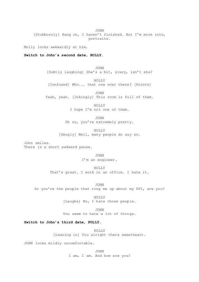 how to write a short horror script