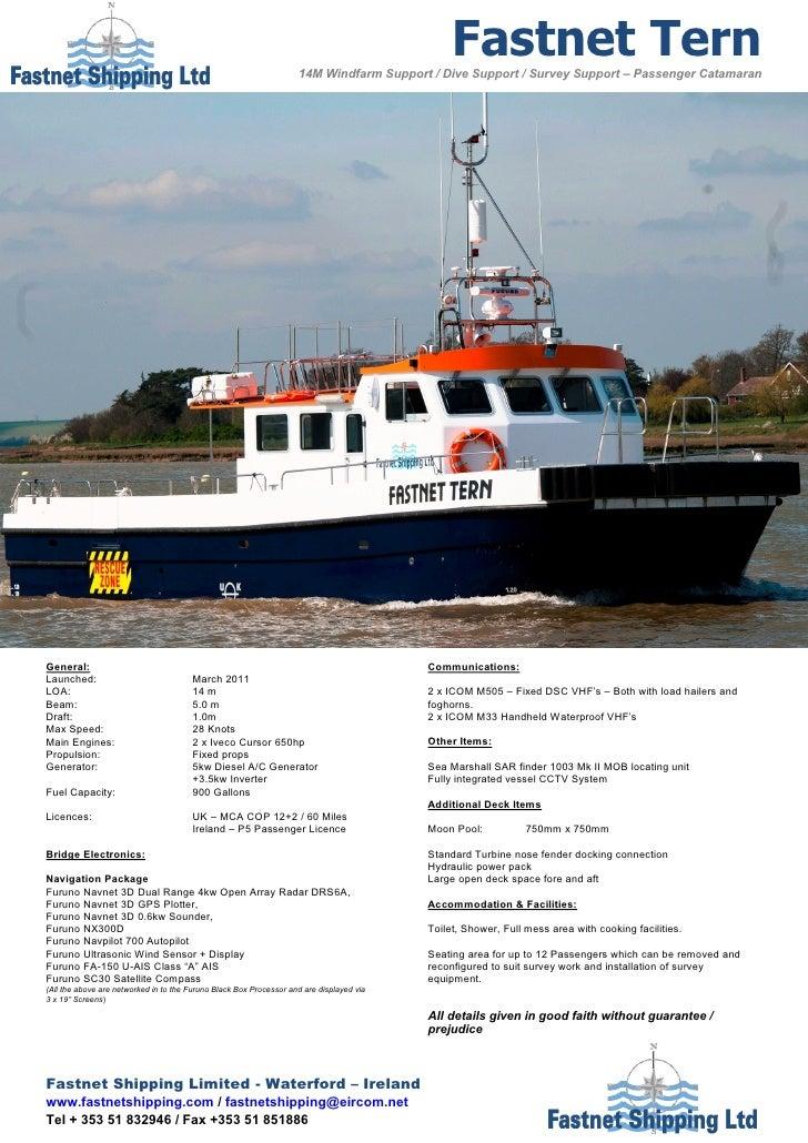 Fastnet Tern                                                                    14M Windfarm Support / Dive Support / Surv...