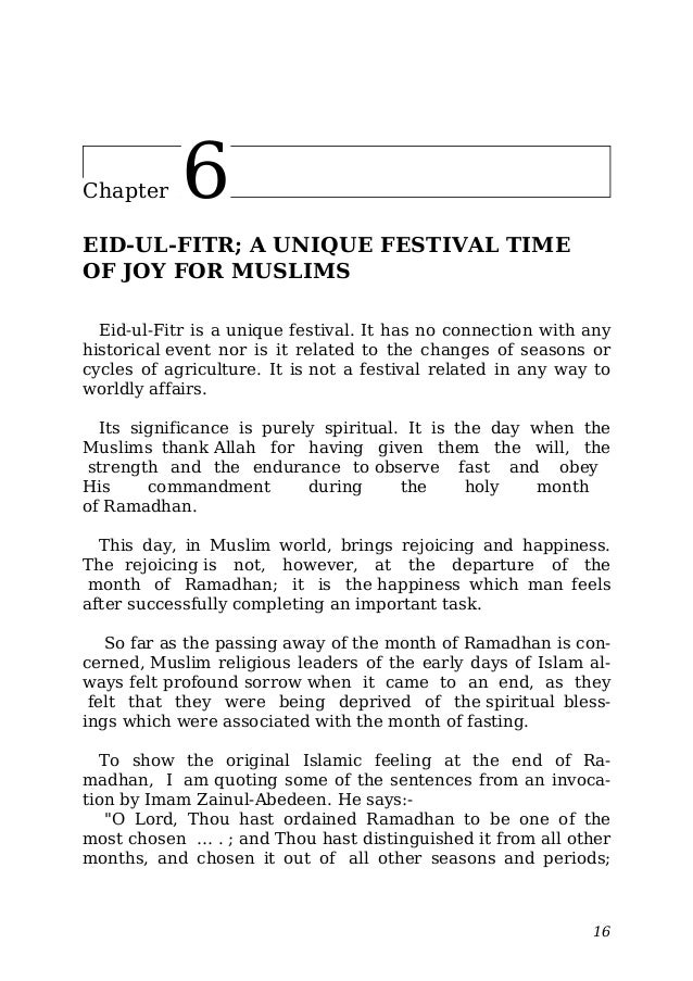 short essay on eid festival