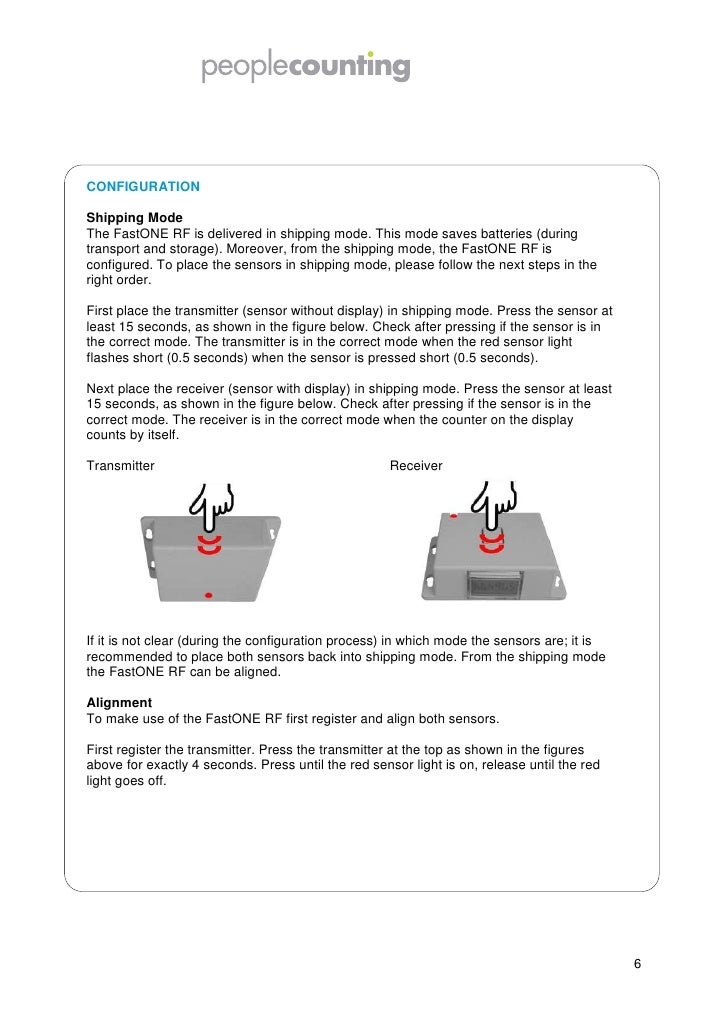 Second, register the receiver. Press the receiver at the top as shown in the figure on theprevious page for exactly 4 seco...