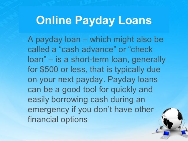 Payday loans are available to everyone