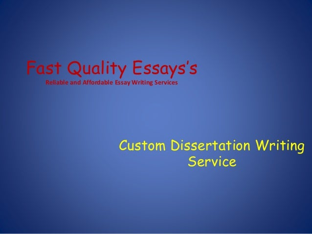 Fast custom essay writing