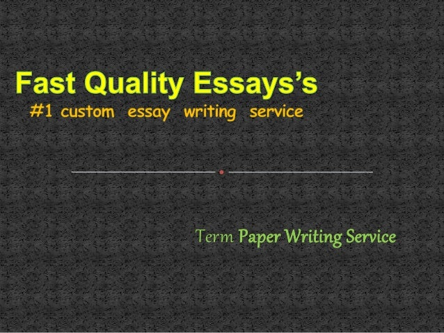 Term paper service presentation slide