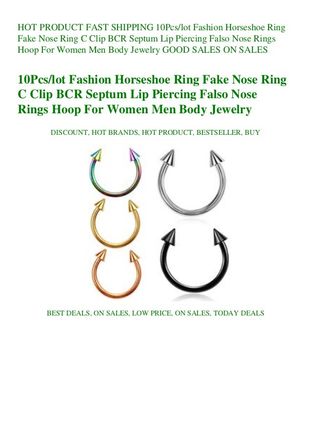 Fast Shipping 10pcslot Fashion Horseshoe Ring Fake Nose Ring C Clip B