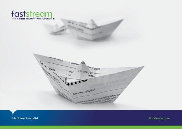 Maritime Specialist faststream.com