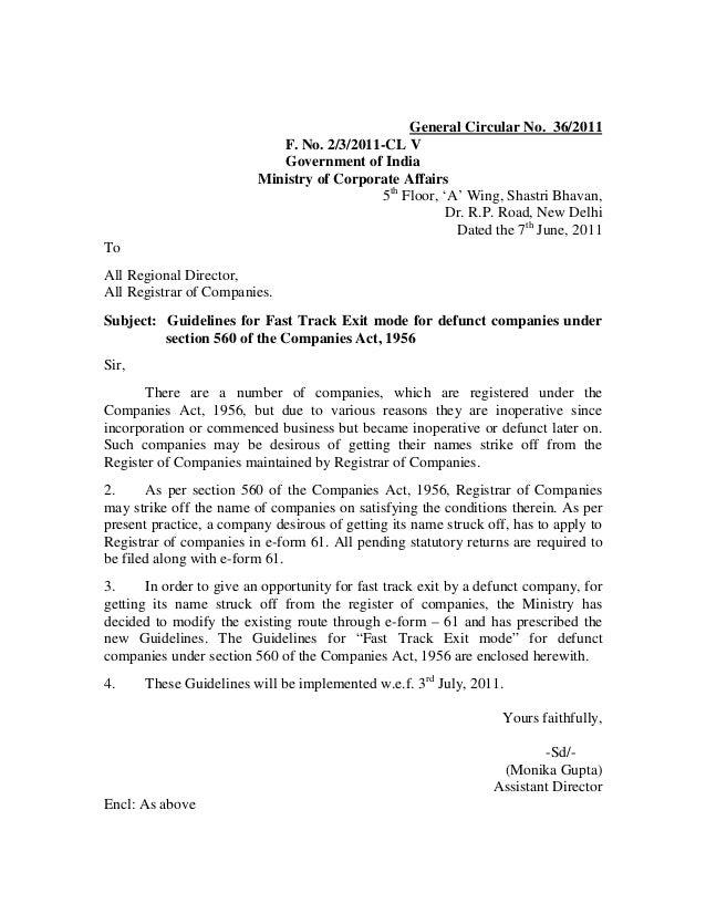 General Circular No. 36/2011                            F. No. 2/3/2011-CL V                            Government of Indi...