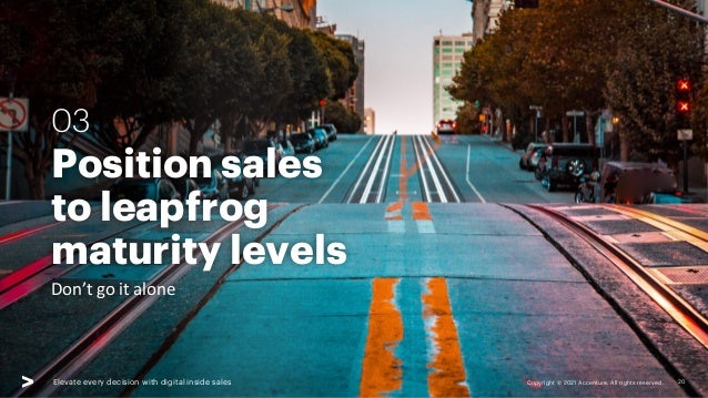 Copyright © 2021 Accenture. All rights reserved. Elevate every decision with digital inside sales Position sales to leapfr...