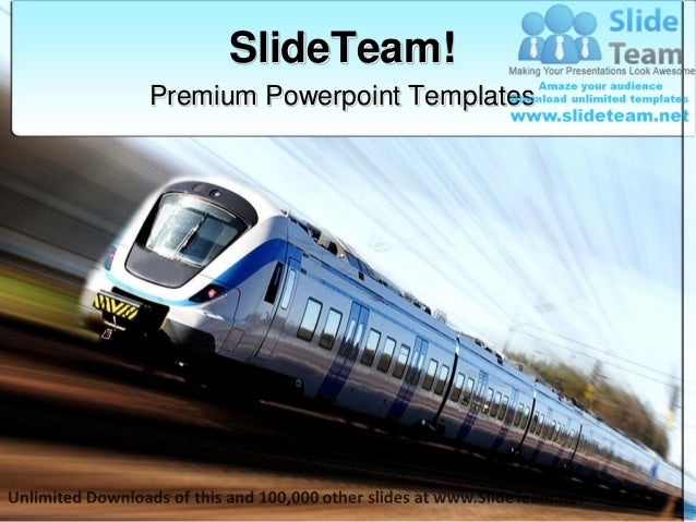 Fast train travel power point themes templates and slides ppt designs premium powerpoint templates toneelgroepblik Image collections