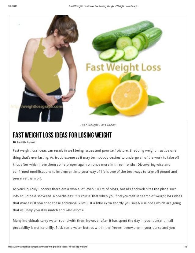 2/2/2019 FastWeightLossIdeasForLosingWeightWeightLossGraph http://www.weightlossgraph.com/fastweightlossidea...