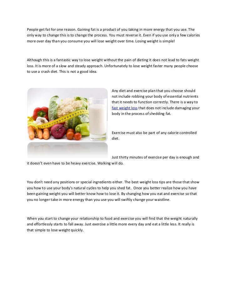 Fast weight loss the natural way Slide 3
