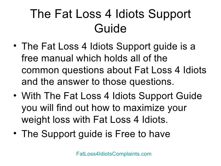 Fat Loss 4 Idiots Complaints And How To Solve Them Slide 3