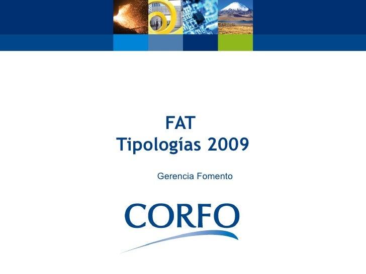 FAT Tipologías 2009     Gerencia Fomento