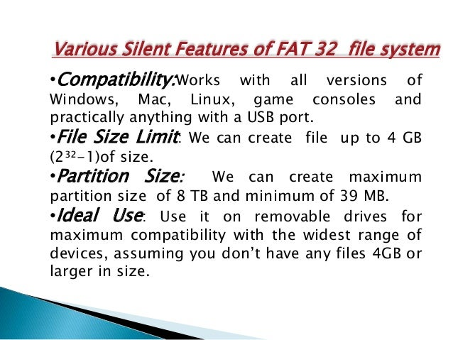 Fat 32 file system