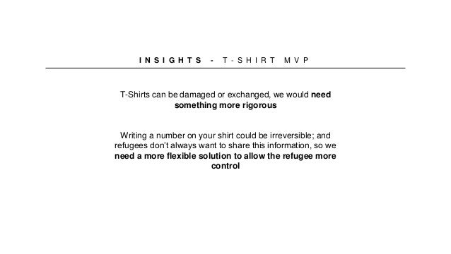 T-Shirts can be damaged or exchanged, we would need something more rigorous Writing a number on your shirt could be irreve...