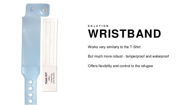 WRISTBAND S O L U T I O N Works very similarly to the T-Shirt But much more robust - tamperproof and waterproof Offers fle...