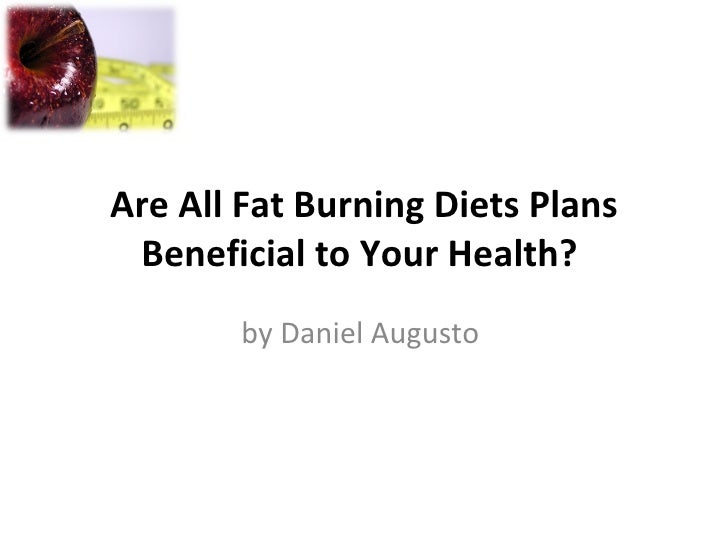 Are All Fat Burning Diets Plans Beneficial to Your Health?  by Daniel Augusto