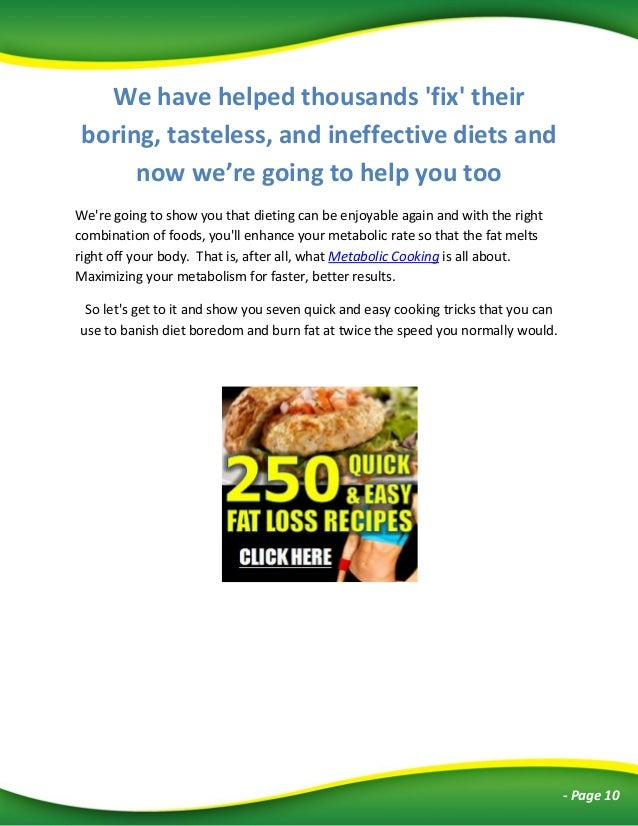 best meals for burning fat
